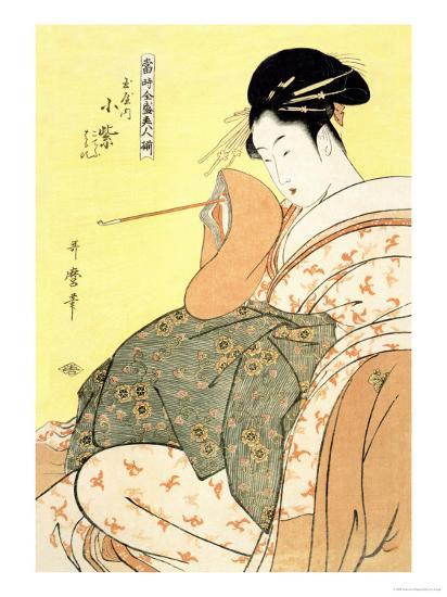Reigning Beauties: Leisure Time-Kitagawa Utamaro-Art Print