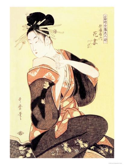 Reigning Beauty: Hanozuma-Kitagawa Utamaro-Art Print
