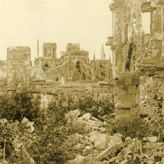 Reims Cathedral, Reims, northern France, c1914-c1918-Unknown-Photographic Print