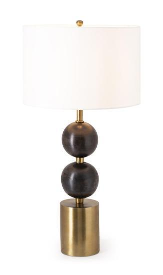 Reims Wood and Metal Table Lamp--Home Accessories