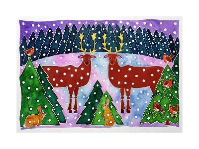 Reindeer and Rabbits-Cathy Baxter-Giclee Print