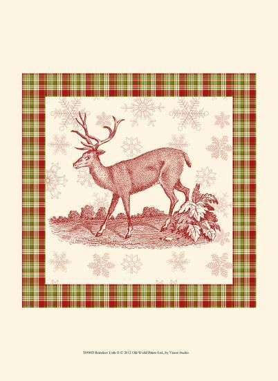 Reindeer Toile II-Vision Studio-Art Print