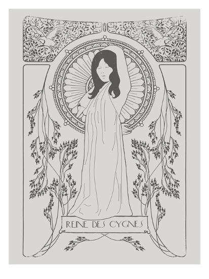 Reine Des Cygnes Grey-Florent Bodart-Art Print
