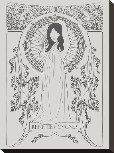 Reine Des Cygnes Grey-Florent Bodart-Stretched Canvas Print