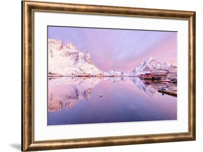Reine Fjord-Michael Blanchette Photography-Framed Giclee Print