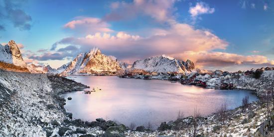 Reine, Lofoten Islands, Norway; Panoramic Photo of Reine-ClickAlps-Photographic Print