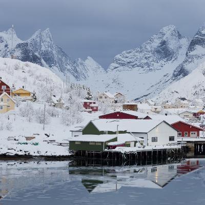 Reine' (Village), Moskenesoya (Island), Lofoten, 'Nordland' (County), Norway-Rainer Mirau-Photographic Print