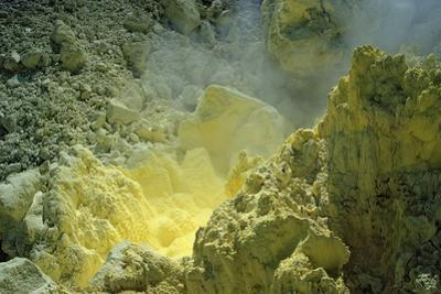 Sulfur in a Volcano Crater, Papua New Guinea, New Britain, Kimbe Bay by Reinhard Dirscherl