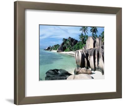 Rocky Coast and Beach, La Digue, Anse Source D'Argent, Seychelles