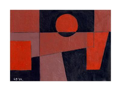 Related Reds with Black, 1999-George Dannatt-Giclee Print