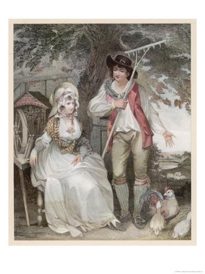 Relatively Prosperous Farming Couple-W. Nutter-Giclee Print