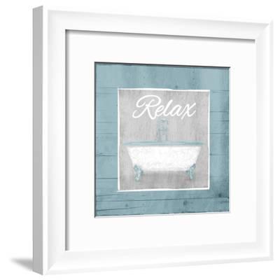 Relax Bath Wood-Jace Grey-Framed Art Print