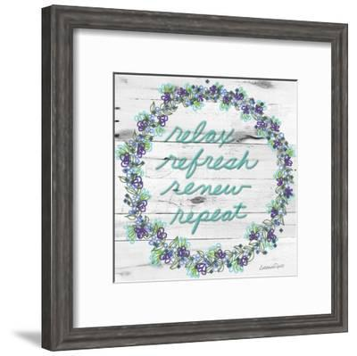 Relax Refresh Renew Repeat-Lorraine Rossi-Framed Art Print