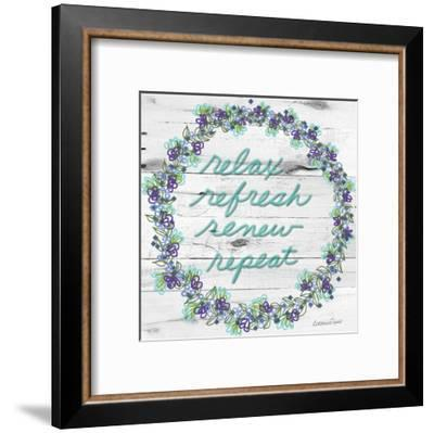 Relax Refresh Renew Repeat-Lorraine Rossi-Framed Art Print