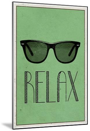 Relax Retro Sunglasses Art Poster Print