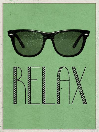 Relax Retro Sunglasses Art Poster Print--Art Print