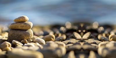Relax Stones on the Seaside-Emese Boros-Photographic Print
