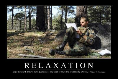 Relaxation: Inspirational Quote and Motivational Poster--Photographic Print