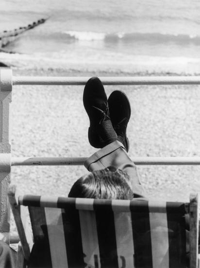 Relaxing in a Deckchair--Photographic Print