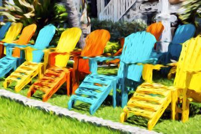 Relaxing - In the Style of Oil Painting-Philippe Hugonnard-Giclee Print