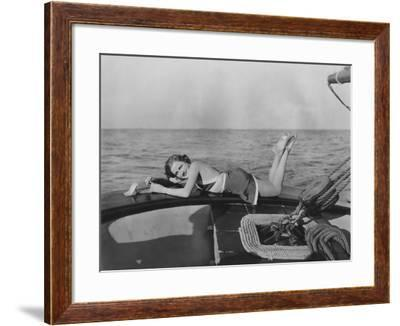 Relaxing on a Yacht--Framed Photo