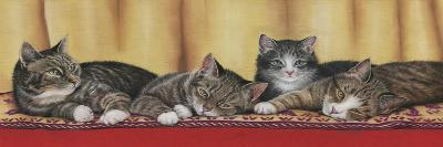 Relaxing Tabbies-Janet Pidoux-Giclee Print
