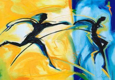Relay Race II-Alfred Gockel-Art Print