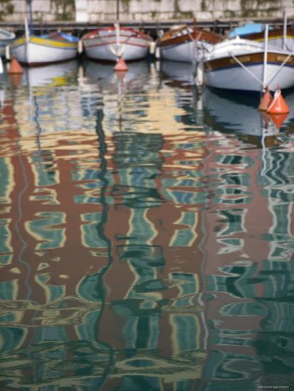 Relections, Nice Harbour, Cote d'Azur, France-Doug Pearson-Photographic Print