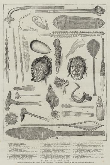 Relics of Captain Cook--Giclee Print