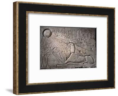 Relief, Ancient Egyptian, Amarna period, c1352-1336 BC-Werner Forman-Framed Photographic Print