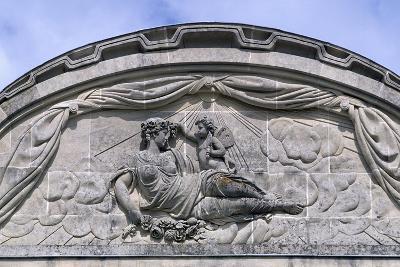 Relief, Decorated Pediment, Chateau De Craon Southern Facade of Castle, Pays De La Loire, France--Giclee Print