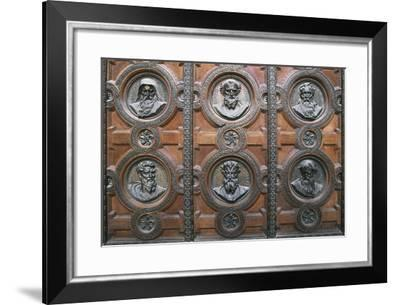 Relief Decoration on the Entrance to St Stephen's Basilica--Framed Giclee Print