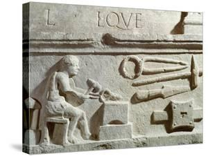 Relief Depicting a Blacksmith's Shop and Tools