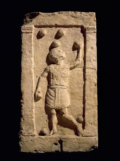 Relief Depicting a Juggler from the Stela of Settimia Spica (Stone)-Roman-Giclee Print