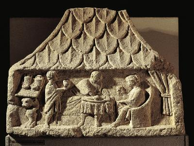 Relief Depicting a Meal Scene in a House--Giclee Print