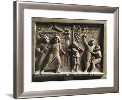 Relief Depicting a Scene from the Andria, after Comedy by Publius Terentius--Framed Giclee Print