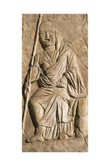 Relief Depicting Actor in Theatrical Costume, from Roman Theatre in Sabratah, Libya--Giclee Print