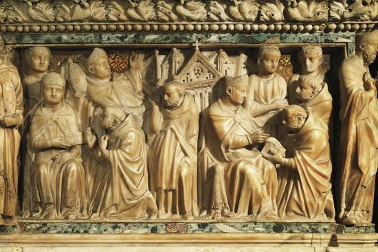 Relief Depicting Approval of Order by Pope Innocent Iii--Giclee Print