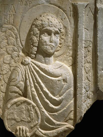 Relief Depicting Archangel Gabriel, Early Christian Period, 6th Century--Giclee Print