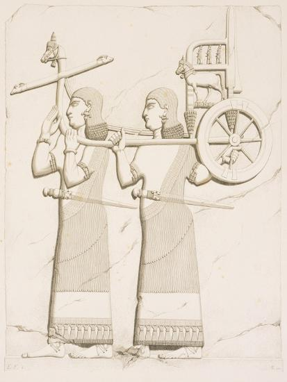 Relief Depicting Carriage Bearers, from Monuments of Nineveh by Paul-Emile Botta, 1849--Giclee Print