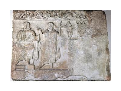 Relief Depicting Christ and St Peter--Giclee Print