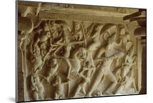 Relief Depicting Durga with the Mahisha Demon, Mandapa of Mabishasuramamrdini, Mahabalipuram