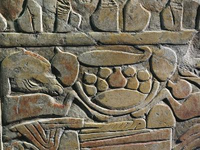 Relief Depicting Food Offerings for the Deities, from Abydos--Giclee Print