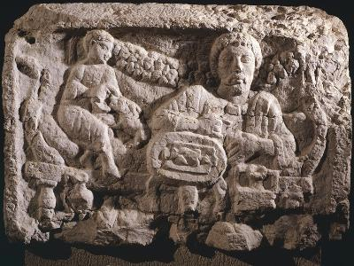 Relief Depicting Funeral Meal--Giclee Print