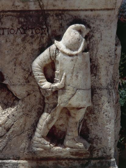 Relief Depicting Gladiator, Along Marble Road--Giclee Print