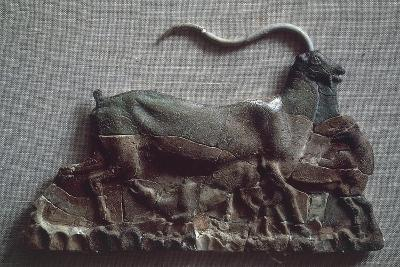 Relief Depicting Goat Suckling Her Kid, Ceramic, from Knossos--Giclee Print