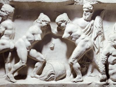 Relief Depicting Gym Scene--Giclee Print