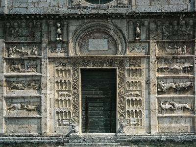 Relief Depicting Life of St Peter and Medieval Stories, Facade, Church of St Peter--Giclee Print