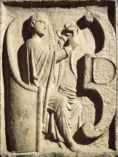 Relief Depicting One of the Parcae Spinning the Thread of Life--Giclee Print
