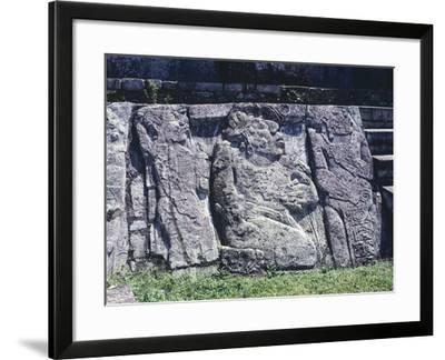 Relief Depicting Prisoners, East Patio of the Palace of Palenque--Framed Giclee Print
